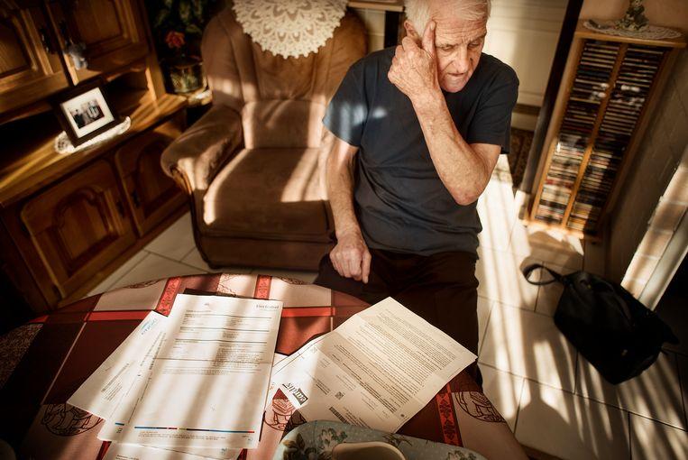 François De Wit (77) maakt zich zorgen over het kleine fortuin dat hij moet betalen.