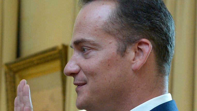 Olivier Paasch, minister-president van de regering van de Duitstalige Gemeenschap. Beeld Photo News