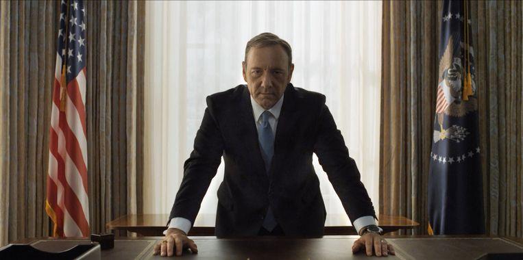 Kevin Spacey als Francis 'Frank' Underwood in de eerste eigen Netflix-serie House of Cards. Beeld Nathaniel Bell