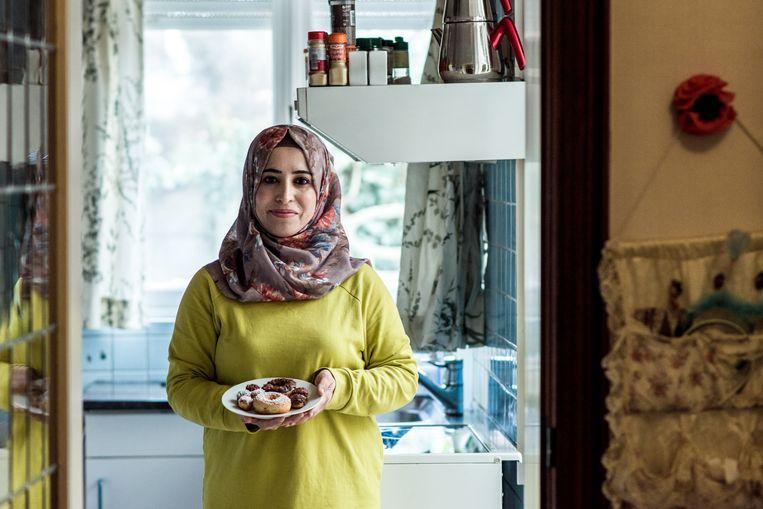 Mahabat Shaker is net gestart met een eigen cateringbedrijf. Beeld Tine Schoemaker