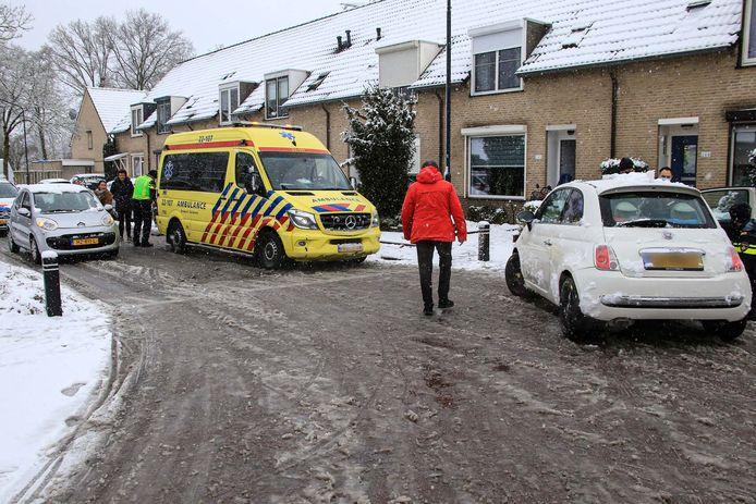 Ongeluk op de Rijnlaan in Helmond.