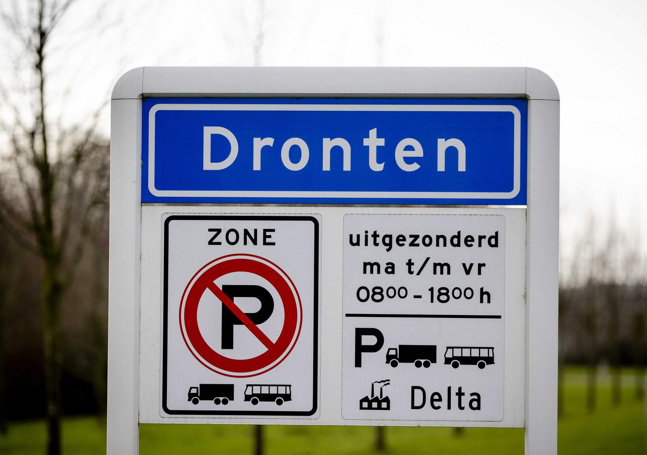 Plaatsnaambord van Dronten.