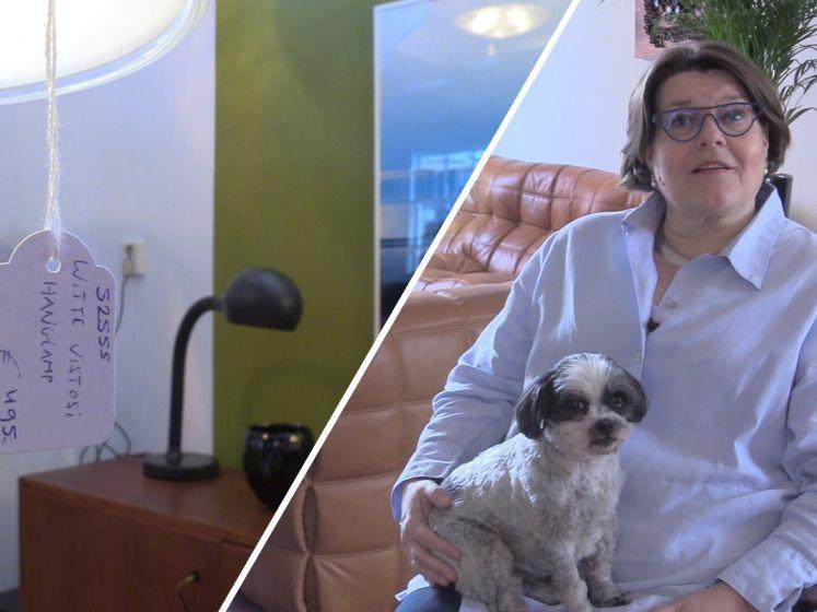 Bij Angelique is alles in haar woonkamer te koop, behalve zijzelf en de hond
