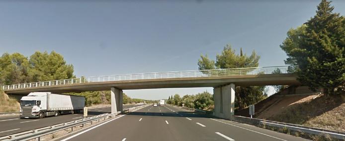 Het bewuste viaduct op de snelweg A9 bij Marguerittes.