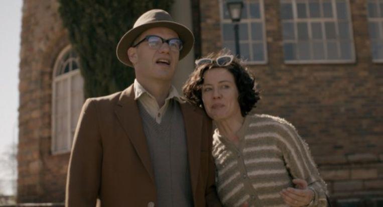 Peter Paul Muller en Antoinette Louw in 'Bram Fischer' Beeld Trouw