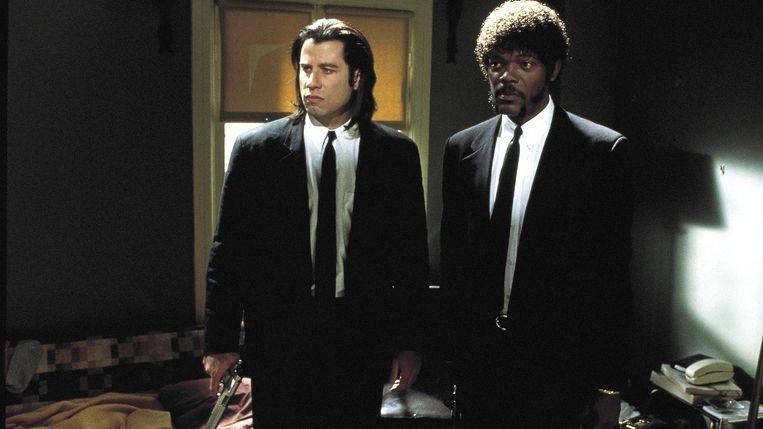 John Travolta (links) en Samuel L. Jackson in 'Pulp Fiction'. Beeld rv