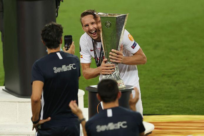 Luuk de Jong met de Europa League