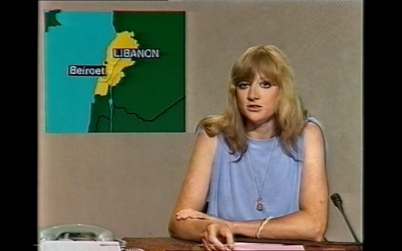 Martine Tanghe in 1983. Beeld VRT