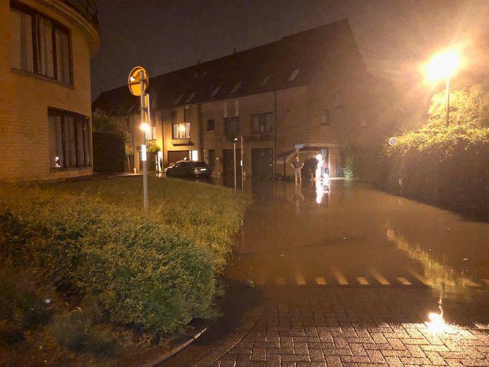 Omdat een vijver overliep, steeg ook het peil van de Molenbeek met ondergelopen straten als gevolg.
