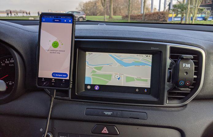 Ook Flitsmeister werkt nu in Android Auto.