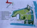 Het plannetje hoe het Minnewaterpark in Brugge er moet gaan uitzien.