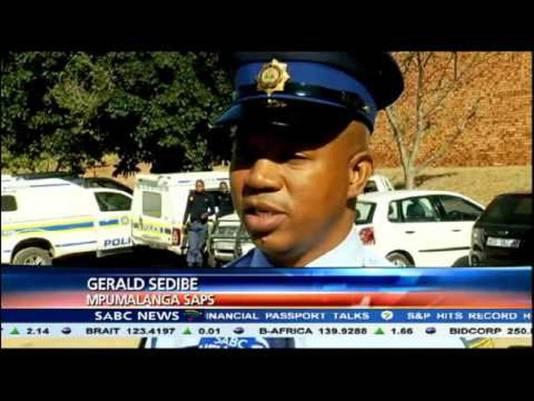 Woordvoerder Gerald Sedibe van de politie in de provincie Mpumalanga.