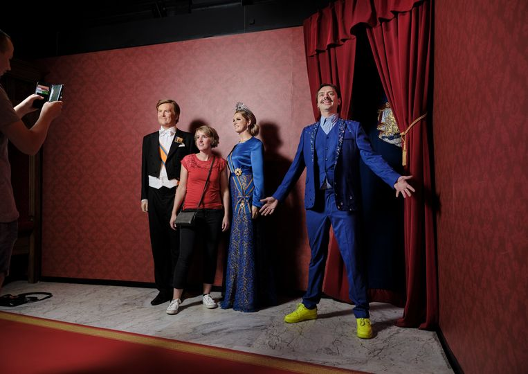 Stefano Keizers bij Madame Tussauds. Beeld Erik Smits
