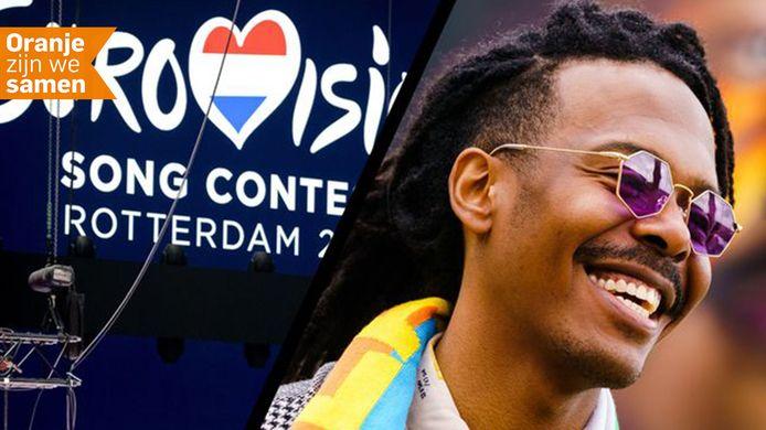 Jeangu Macrooy vertegenwoordigt Nederland op het Eurovisie Songfestival in Rotterdam.