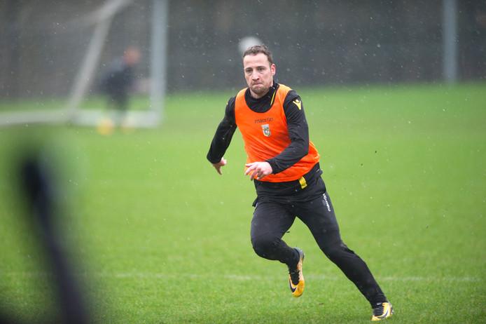 Roy Beerens op de training van Vitesse. Foto: Robin Utrecht
