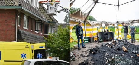 Gemist? Tent in brand gestoken in Agelo & 'steekincident' in Hengelo was ongeluk