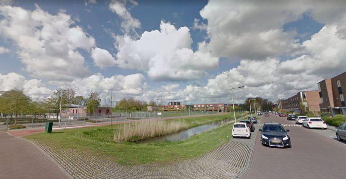 De Brunelsingel, tegenover de sportvelden van MASV, waar het schietincident rond Eef K. plaatsvond.