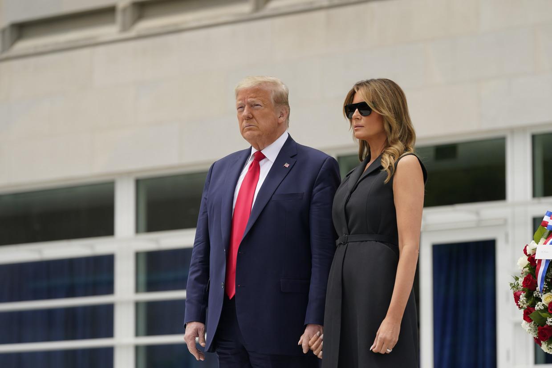 Melanie Trump met haar man Donald.  Beeld EPA