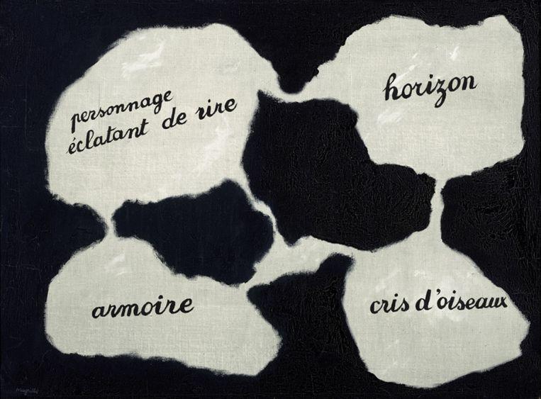 Magritte schilderde Lemiroir vivant in 1928. Beeld rv