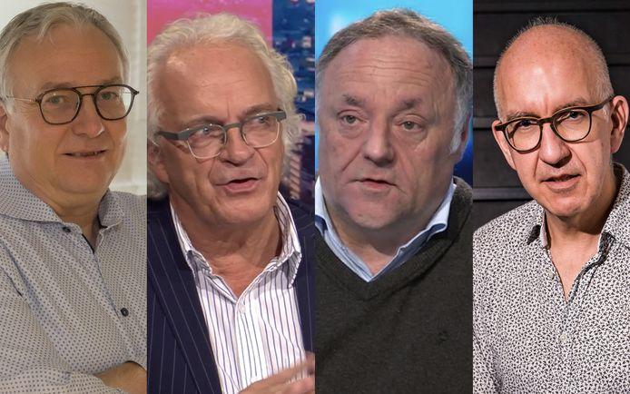 Dirk Devroey, Marc Noppen, Marc Van Ranst en Geert Molenberghs.