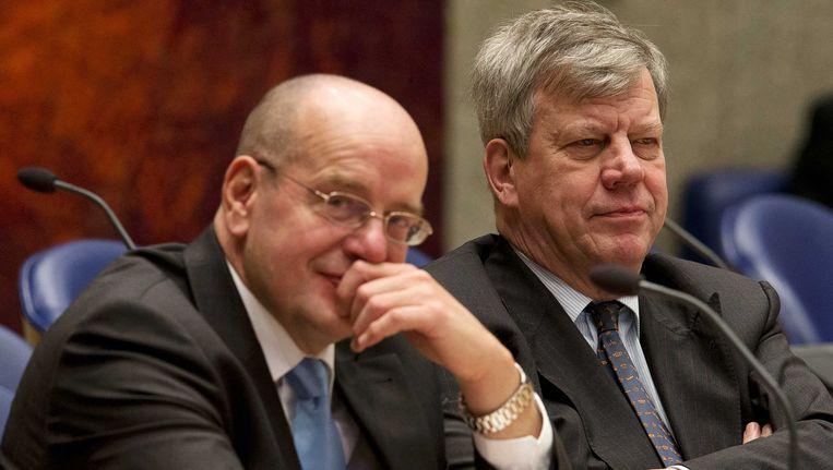 Fred Teeven(L) en Ivo Opstelten. Beeld ANP