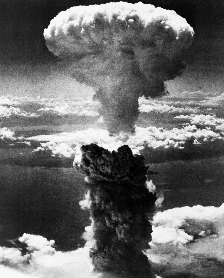 De paddenstoelwolk bij Hiroshima Beeld AP