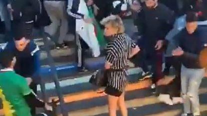 Transvrouw krijgt rake klappen tijdens betoging op Parijse metrotrappen