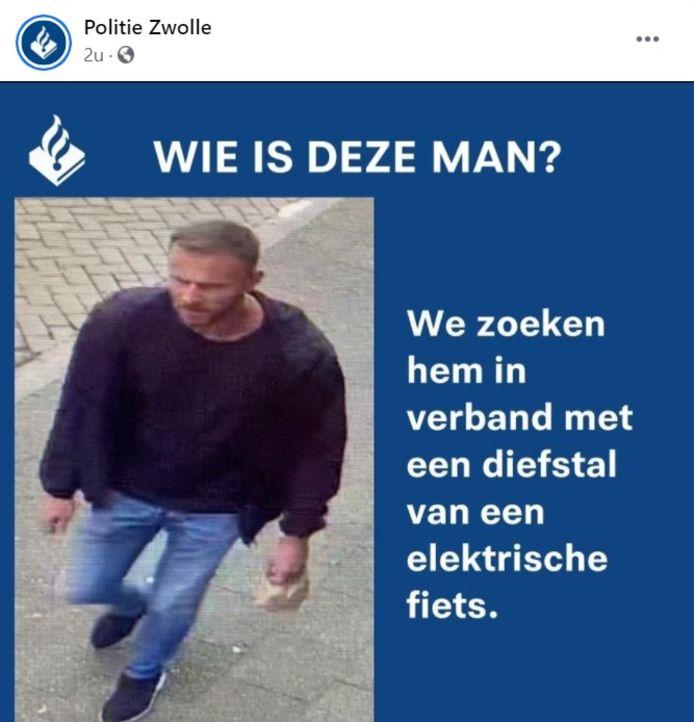 De politie is op zoek naar deze man.
