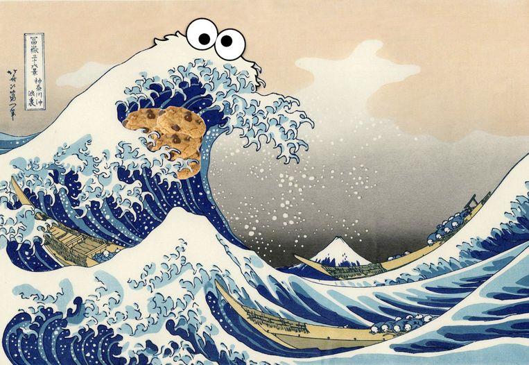Hokusai Koekiemonster Beeld RV