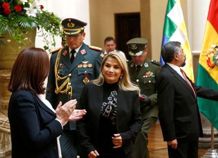 De interim-president van Bolivia, Jeanine Anez.