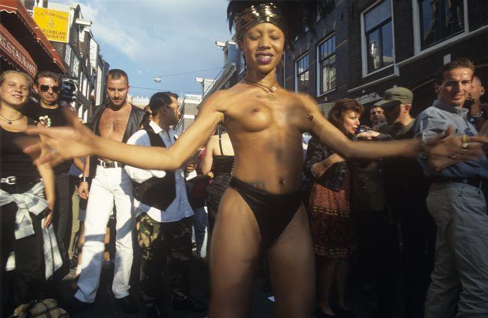 De eerste Amsterdam Pride in 1996.