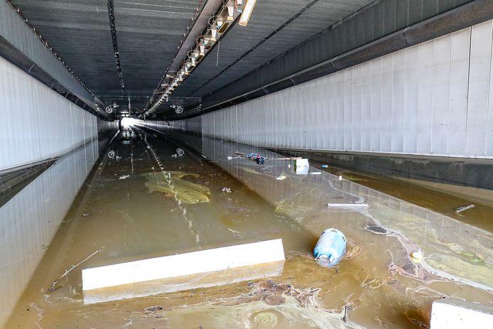 Le tunnel des Grosses Battes à Liège ce dimanche.