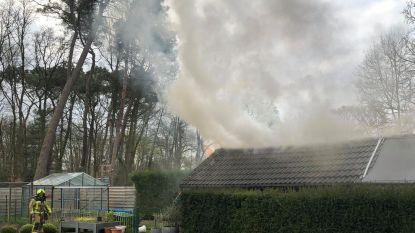 Tuinhuis in Beukenlaan vat vuur