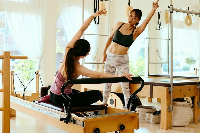 Foto ter illustratie: reformer pilates