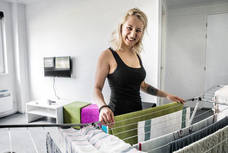 LH Waalwijk OTTO Work Force / wooncampus / arbeidsmigranten / huisvestiging / (Paulina 26 jaar) Beeld Aurélie Geurts
