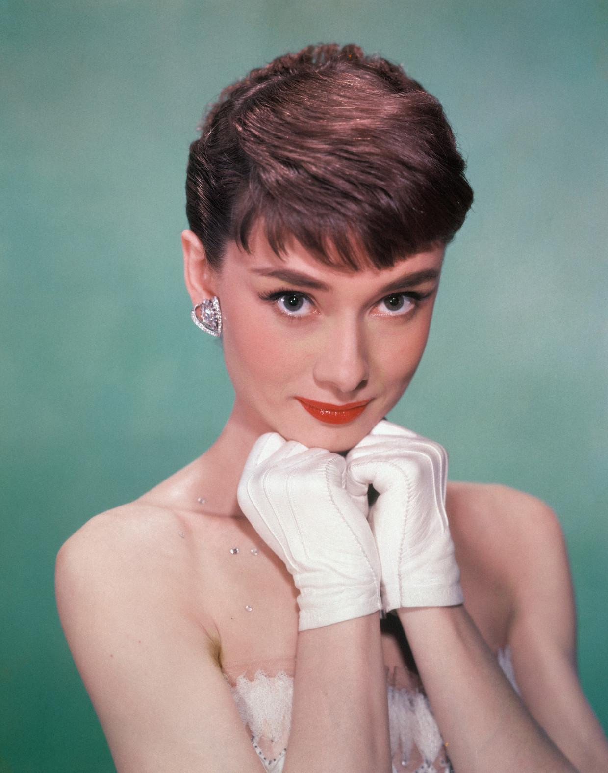 Audrey Hepburn (1929 - 1993) begin jaren vijftig.  Beeld Getty Images