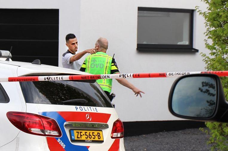 Zahavi vlak na de overval bij zijn woning in Buitenveldert. Beeld Inter Visual Studio