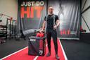 'Beste Starter' Maarten Nieuwenstein in zijn sportschool HIT Personal Training aan de Industrieweg-Oost in Elst .