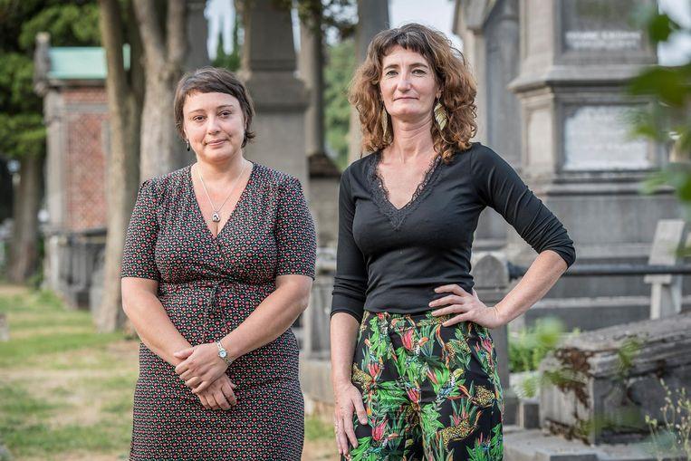 Birgit Verbeke en Mieke Deltomme van de vzw Rouw & Verlies.