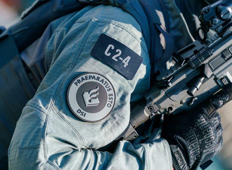 Leden van de Dienst Speciale Interventies, die onder meer kan optreden bij het arresteren van terrorismeverdachten. Beeld Hollandse Hoogte /  ANP