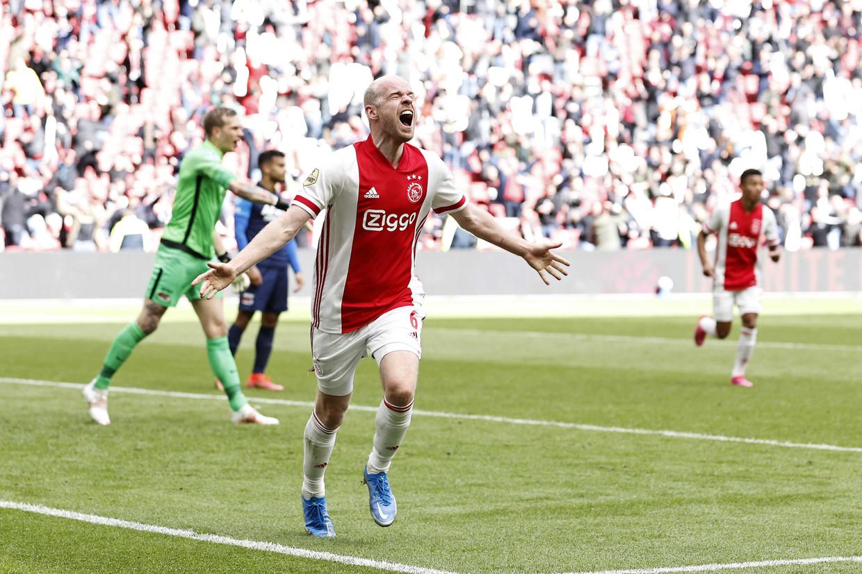 Klaassen keerde terug in Amsterdam om Ajax aan de dubbel te helpen. Zijn bijdrage aan dat succes is bijzonder groot. Beeld ANP