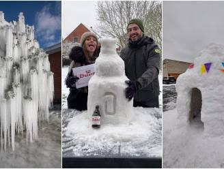 U toonde zich weer erg creatief: dit zijn uw leukste kunstwerken met sneeuw en ijs