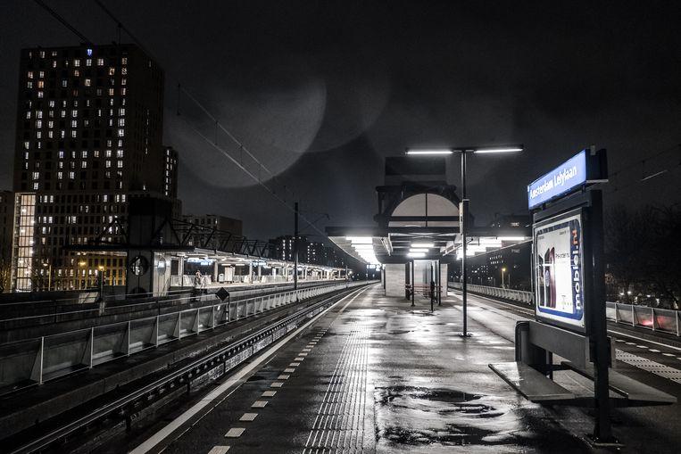 Amsterdammers vinden Station Amsterdam Lelylaan het onveiligste station van de stad.  Beeld Joris Van Gennip