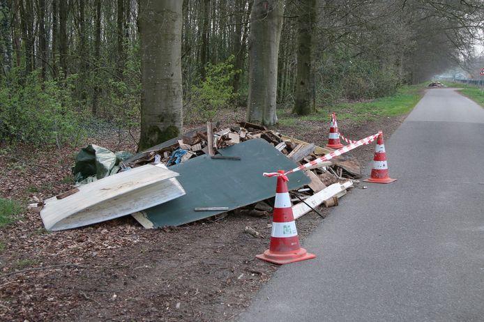 De nieuwste dumping, die zaterdagochtend werd gevonden.