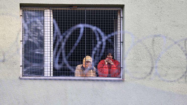 Vluchtelingen in een Tsjechische opvang. Beeld afp