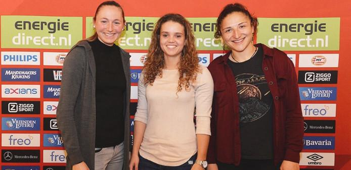 Jeslynn Kuijpers, Nadia Coolen en Sara Yüceil hebben verlengd bij PSV.