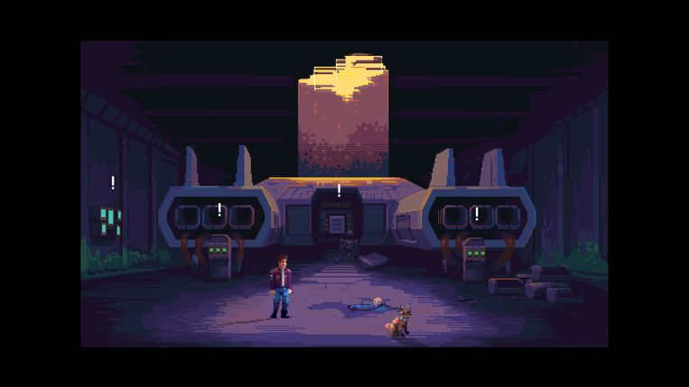 De makers van 'Tardy' willen hun game overduidelijk doen lijken op ninetiesklassieker 'Space Quest'. Beeld One Wing Cicada
