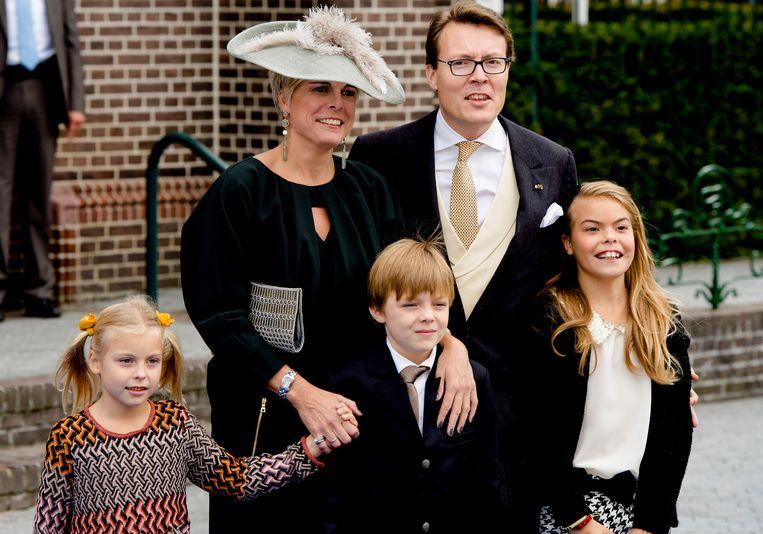 Prins Constantijn en prinses Laurentien met hun kinderen Beeld Hollandse Hoogte /  ANP