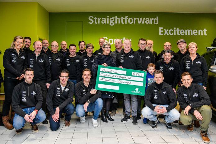 Blijdorp mocht een cheque van 1.000 euro ontvangen.
