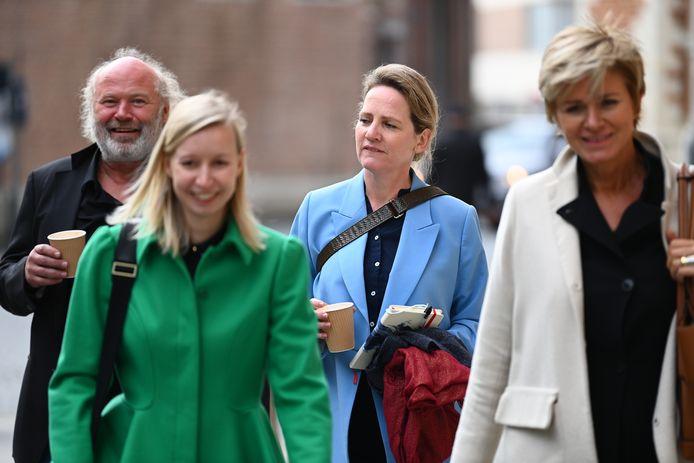 Maaike Cafmeyer en haar partner, advocaat An-Sofie Raes and advocaat Christine Mussche